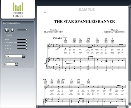 Screenshot of Interactive Sheet Music Viewer